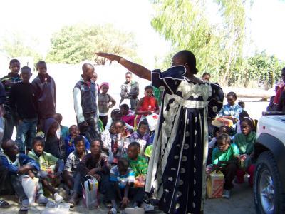 Oshakati Life Change Centre - Meme Rebecca organising scholars